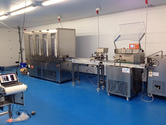 England: molding line for chocolate with Clima 100!