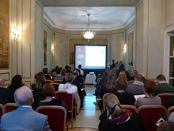 Again about our City: we were also at the presentation of the Salon du Chocolat in Milan ...