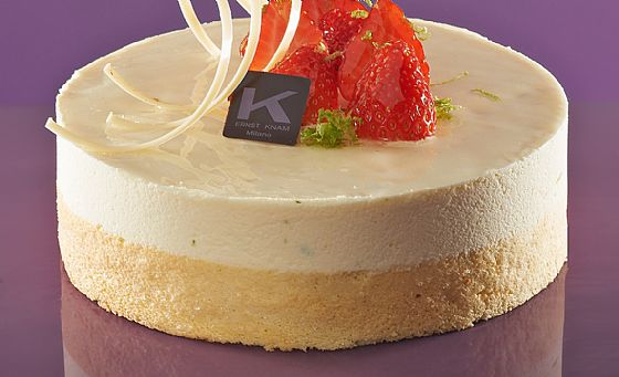 Mousse of white chocolate and strawberries by Ernst Knam.