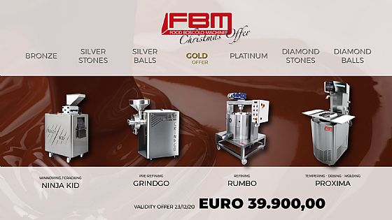 "Natale. Ecco l'offerta ""gold"" per produrre ""bean to bar""."
